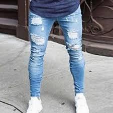 Litthing <b>2019 new</b> streetwear hiphop personality <b>men</b> jeans side ...