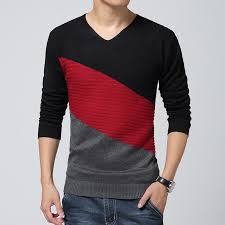 <b>mens</b> sweaters v neck <b>100</b>% <b>cotton knitted</b> sweater <b>men</b> brand slim ...