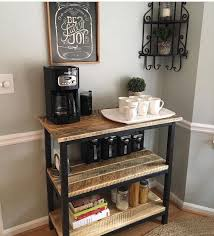 make your own coffee bar this weekend built coffee bar makeover