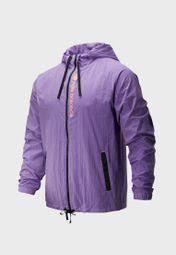Buy New Balance Purple <b>Sportstyle Optiks Windbreaker</b> for Men in ...