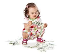 Image result for kids holding $100
