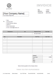 invoice example service invoice example