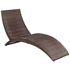 vidaXL <b>Sun Lounger</b> w/Cushion <b>Poly Rattan</b>- Buy Online in ...
