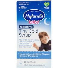 Hyland's <b>Baby</b> Nighttime <b>Cold Syrup</b>, Natural Relief of Runny Nose ...