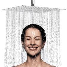 6 Inch Large Square <b>Rain</b> Showerhead Polish <b>Chrome Finish</b> ...