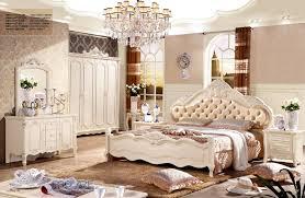 foshan fancy leather design bedroom furniture sets bedroom bed with 4 doors garderobe wardrobe bedroom furniture set