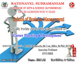 rvs college of arts science career planning and development by mr k thulasivelu rvs imsr click here to invitation