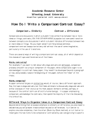 compare and contrast essay format example  compare and contrast essay format example