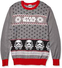 <b>Star Wars Men's</b> Ugly Christmas Sweater at Amazon <b>Men's Clothing</b> ...