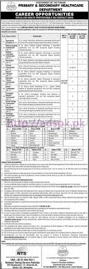 nts new career jobs 2017 primary secondary healthcare department nts new career jobs 2017 primary secondary healthcare department punjab govt allied health professionals written test syllabus paper for 25 district