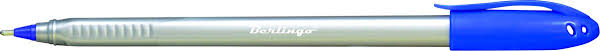 <b>Berlingo Ручка шариковая Triangle</b> Silver цвет синий — купить в ...