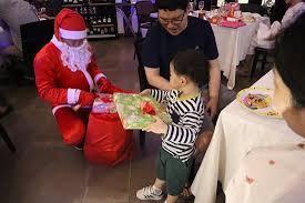 <b>Christmas</b> Dinner <b>24</b>/12/2018 - <b>Santa Claus</b> Giving Presents To The ...