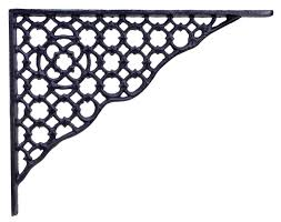 Mua Decorative Shelf Bracket Ornate Lattice Black Cast Iron Brace ...