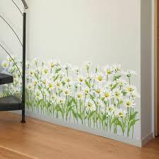Flowers Grass <b>Baseboard</b> Stickers DIY <b>Daisy</b> Weed Home Decor ...