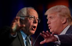 Image result for bernie sanders and donald trump