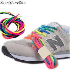 <b>1Pair Round Rainbow</b> Color Shoelaces Canvas Athletic Shoelace ...
