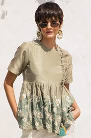 Buy <b>Arabesque</b> Olive <b>Top</b> , Ladies Tops Online for Women