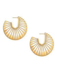 Deanne <b>Hoop Earrings</b> in <b>Vintage</b> Gold | Kendra Scott