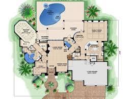 Mediterranean Home Plans   Premier Luxury Two Story Mediterranean     st Floor Plan