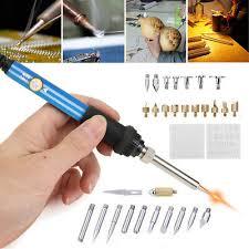 <b>28PCS Wood Burning</b> Kit Set Tool Pen Pyrography Supplies Iron ...