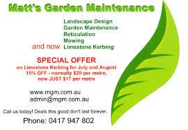 matt s gardening maintenance gardening services looklocalwa upload cv or brochure view my flyer or brochure