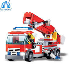 Buy <b>Qunlong</b> Toys Minecraft <b>Building</b> Blocks DIY Fire Fighting Truck ...