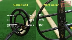 Garett 300i, штатная <b>катушка</b> vs <b>Mars</b> Goliaf - YouTube
