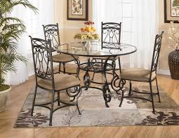 glass round kitchen table and chairs