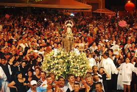 Resultado de imagem para procissão de santa rita em santa cruz  2015