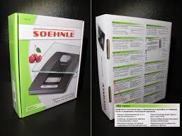 Обзор от покупателя на <b>Весы кухонные Soehnle</b> 65106 Fiesta ...