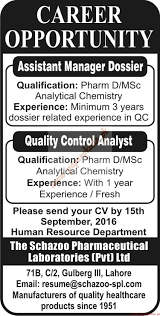 assistant manager quality control analysts and other jobs assistant manager quality control analysts and other jobs nawaiwaqt jobs ads 21 2016