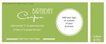 custom birthday coupons customize online print at home you can also create an anniversary coupon to send out to your customers on their anniversaries as well