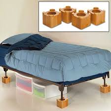 back to using the lifting bed risers the head of a bed bed risers target furniture