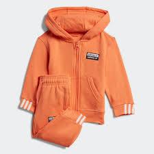adidas <b>Комплект</b>: толстовка и <b>брюки</b> - оранжевый | adidas Россия