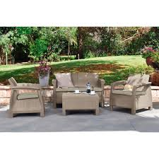 Набор садовой <b>мебели</b> Keter Corfu set полиротанг капучино: <b>стол</b> ...