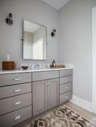 bathroom features gray shaker vanity: gray shaker bath vanity with brown kilim bath mat view full size