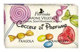 Купить <b>натуральное мыло</b> Coccole Di <b>Profumo</b> Fragola 100г Florinda