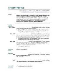 Cv Tips CV Template for Graduates