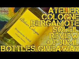 <b>Atelier Cologne Bergamote Soleil</b> Fragrance Review - YouTube
