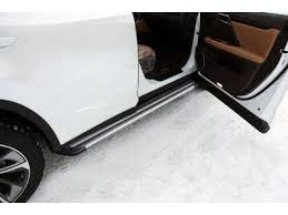 LEXRX200tFS15-17S <b>Пороги алюминиевые Slim</b> Line Silver ТСС ...