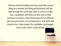 Phrases To Omit From Your Sales Resume