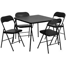 roomfolding table chairs black folding