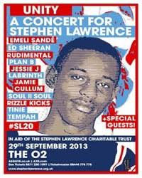 Music fans across the London nightlife scene are looking forward to: Unity – A Concert for Stephen Lawrence that will be marking 20 years since the racial ... - gI_114345_stephen-lawrence-unity-concert