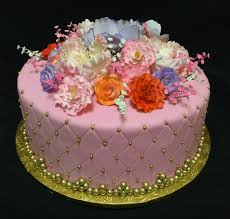 custom made cakes fresh baked goods la bonbonniere bake shoppes quilted fondant spring deco