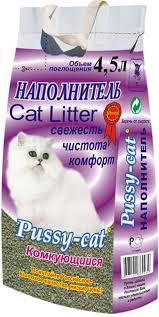 Наполнитель для кошачьего туалета <b>PUSSY</b>-<b>CAT</b> ...