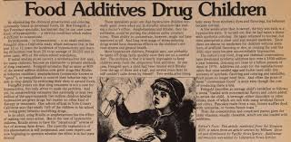 food additives drug children ing john sinclair