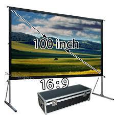 Office Electronics Accessories 100inch Outdoor Indoor 16:9 <b>4K Ultra</b> ...