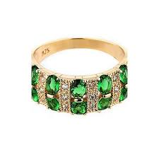 MJW&G Women's Ring Synthetic Emerald Unique Design <b>Fashion</b> ...