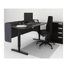 bekant reception desk sitstand black brown black 160x80 55 cm bekant desk sit stand ikea