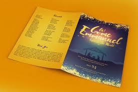 emmanuel christmas program template templates on creative market